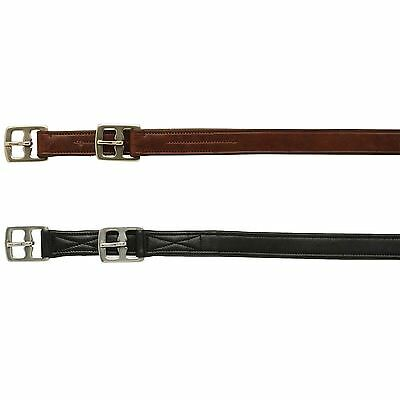 Caldene Equestiran Small Strong Buckle Stirrup Leathers Horse Riding Training