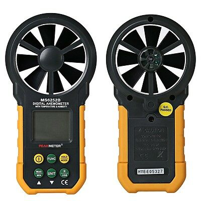 PEAKMETER MS6252B Anemometer Wind Speed Air Volume Humidity Measurement AUK