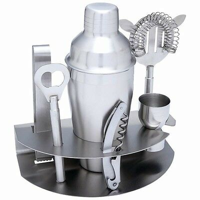 7pc Stainless Steel COCKTAIL MARTINI SHAKER Mixer Pub Bar Drink SET Bartender