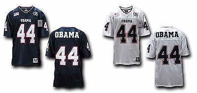 Mens Football Jersey Barack Obama US Presidential 44 Navy or White Rapdom R10
