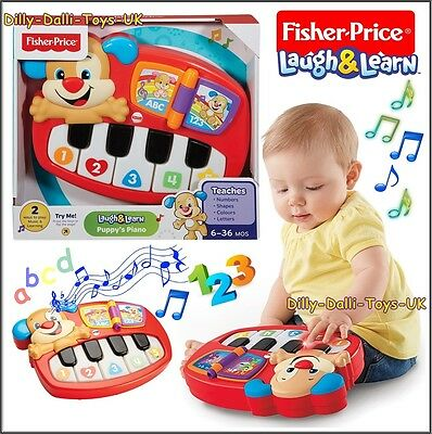 New FISHER PRICE Laugh & Learn Puppy Puppy's Piano Age 6M+ Music & Learning Toy