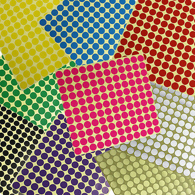 264×13mm Dot Stickers Round Spot Circles Dots Paper Labels Marker *10 COLOURS