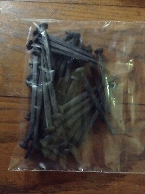 "NOS 3"" Decorative Wrought Head Black Oxide Finish Nails (Lot 32pcs/1#)"
