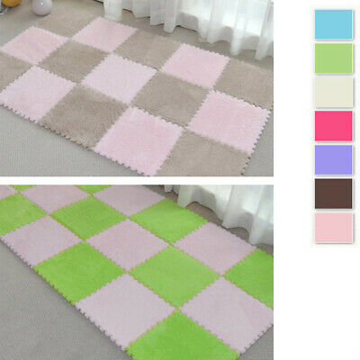 Baby Crawling Puzzle Mat Soft Kids Play Pad Activety Carpet Home Floor Blanket
