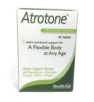 HealthAid Atrotone - Green Lipped Mussel MSM Glucosamine Turmeric - 60 Tablets