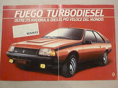 *advertising Pubblicita' Renault Fuego Turbodiesel -- 1983