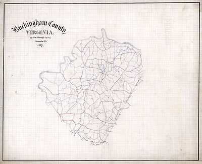 1867 Map of Buckingham County Virginia