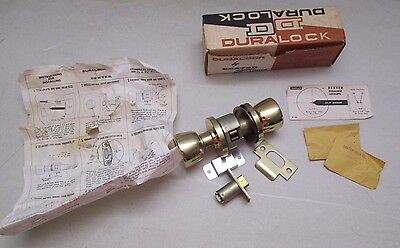 Vintage Duralock Dexter Door Knob Cylindrical Locksets Passage 7201 NOS
