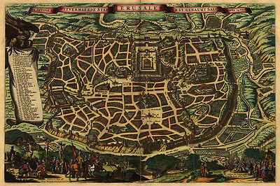 1660 Map of the City of Jerusalem Israel