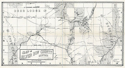 1890 Map of Silver Bow County Montana