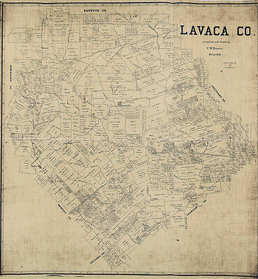 1896 Map of Lavaca County Texas