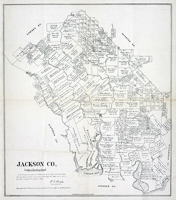 1880 Map of Jackson County Texas