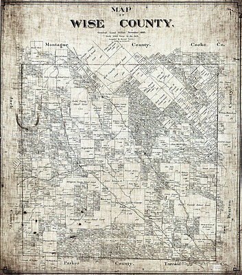 1895 Map of Wise County Texas