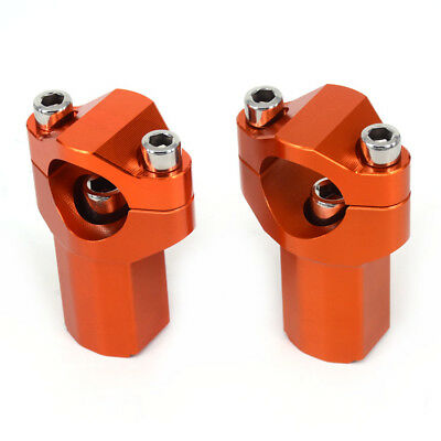 Higher 28MM HandleBar Risers Fat Handle Bar Mount Clamp For KTM SX SXF XC-E EXCF