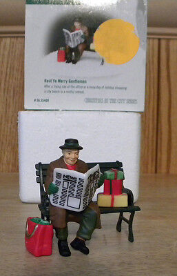 Department 56 Holiday Christmas Rest Ye Merry Gentlemen Christmas In The City