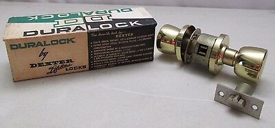 Vintage Duralock Dexter Door Knob Locksets Entry U.B. Keys 7Z38