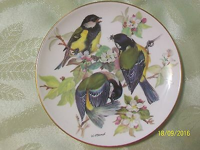 """""""Great Titmouse"""" 1986 Decorative Plate #5 Songbirds of Europe WWF - Ursula Band"""