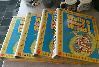 Wheres Wally History Of The World 51 Issues ( 1 Missing) In Four  Binders