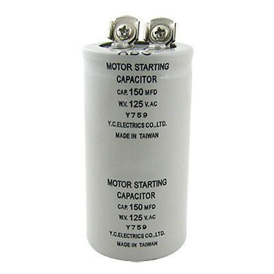 Cylinder 150MFD 125VAC Motor Starting Run Capacitor