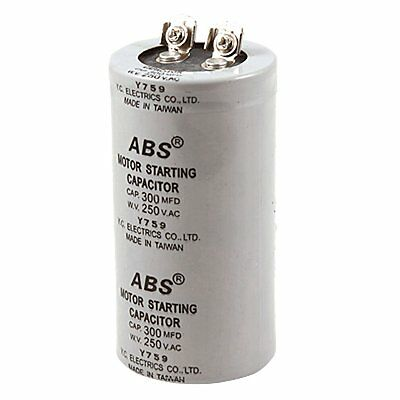 Cylinder 300uF 300MFD 250V AC Motor Start up Capacitor