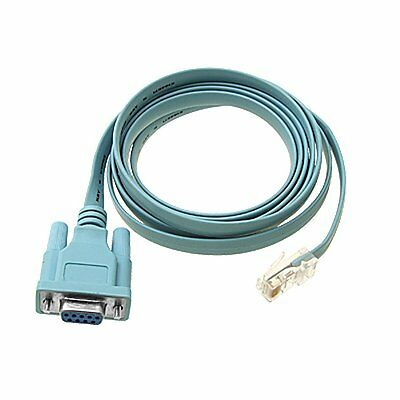Console Cable DB9 to RJ45 6 Ft for Cisco Router Switch Line Card