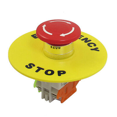 4 Screw Terminals Self Locking Contact Red Emergency Stop Push Button Switch