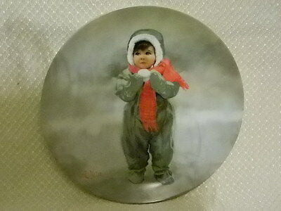 Winter Angel Collector Plate Pemberton & Oakes 1984 Donald Zolan Childhood