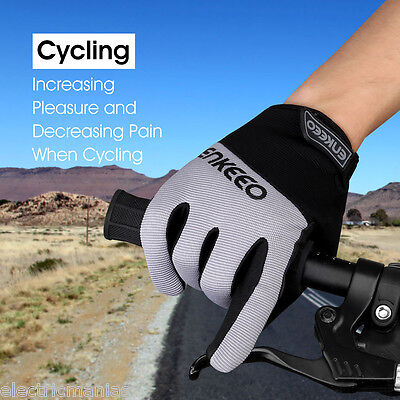 Full Finger Mountain Bike Bicycle Gloves GEL Padded Shockproof Cycling Gloves