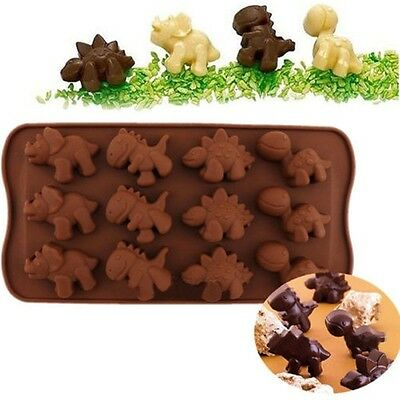 Dinosaur Shape Silicone Baking Tray Cake Chocolate Candy Cookie DIY Mould Mold