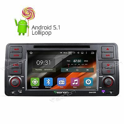 "UK Eonon 7"" Android 5.1 Car Stereo DVD Player GPS NAV Sat WiFi 3G for BMW E46 W"