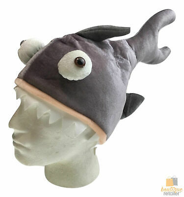 SHARK HAT Costume Accessory Fish Halloween Fancy Dress Up Party New Cap Headgear