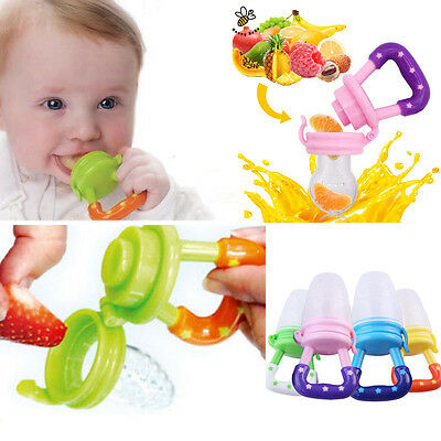 Cute Baby's Silicone Feeding Dummies Pacifier Soother Nipples Soft Feeding Tool