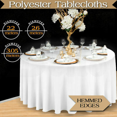 Table Cloths Trestle Tablecloth Wedding Round Event Party White Deco 1/4/10PC