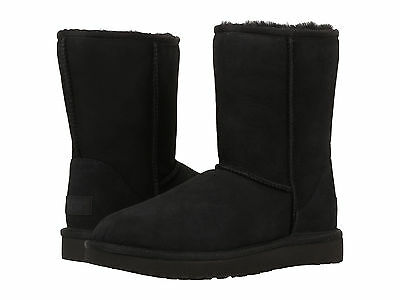 Women UGG Australia Classic Short II Boot 1016223 Black Twinface 100% Authentic