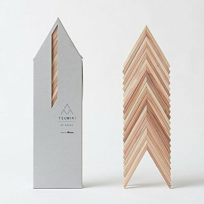 Wood Building Blocks Tsumiki 22 pieces design by Kengo Kuma for Moretree