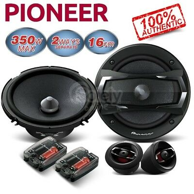 "New PIONEER TS-A1605C 6.5"" 17cm 350W 2 Two Way Car Component Speakers System Set"