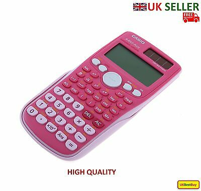 Full Scientific Solar Calculator Casio FX-85GT Plus 260 Functions GCSE - Pink