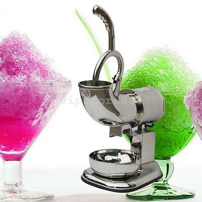 USA Stainless Ice Shaver Snow Cone Maker Shaved Icee Electric Crusher Machine