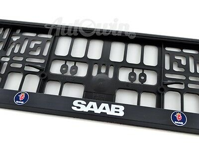 Saab Euro Standart Vehicle License Plates Frames with Saab Logo 1 pcs
