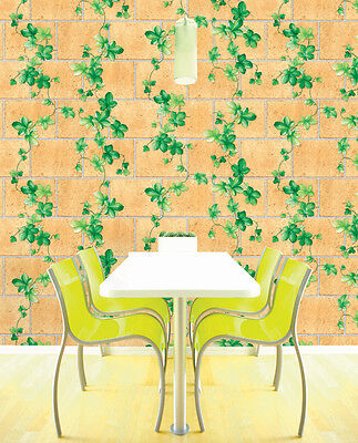 SHABBY CHIC Brick Contact Paper Decorative Self Adhesive Wallpaper ...
