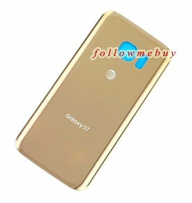 Generic Battery Glass Back Door Cover Case For Samsung Galaxy S7 G930A AT&T Gold