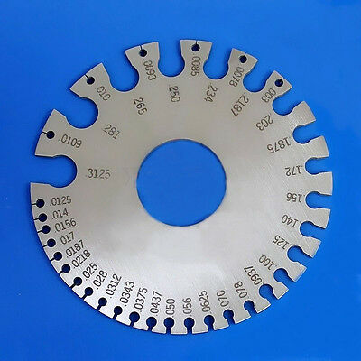 Metal Round AWG SWG Wire Thickness Measurer Tester Ruler Gauge Diameter Tool