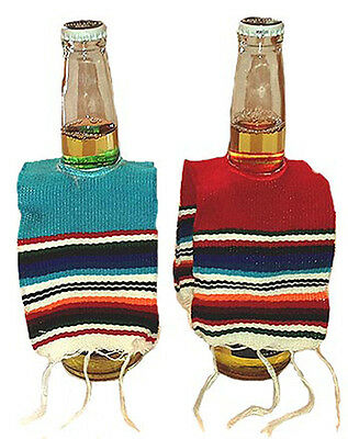 Mexican Poncho Stubby Holder - Cerveza Beer Serape Corona Sol Bottle Cooler