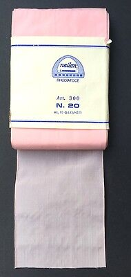 10m of 7cm wide VINTAGE French Pale Pink Ribbon