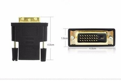 DVI-D Dual link Male 24 + 1 pin to HDMI Female 19 pin Adapter HDMI to DVI