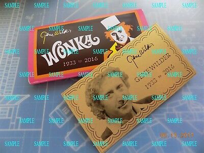 Custom Made Gene Wilder Wonka Style Bar and Golden Ticket