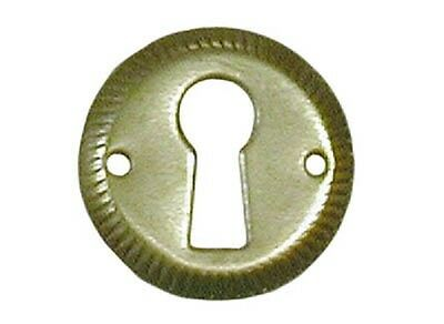 National Lock Key Hole Escutcheon 1 Inch Diameter Brass N2008 3