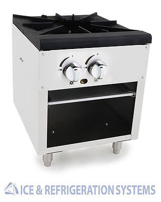 Stainless Steel Commercial Single Stock Pot Stove Natural / Propane Gas SP-18-1
