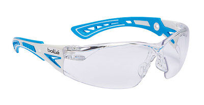 Bolle RUSH+ PLUS Safety Spectacles Glasses Eye Wear BLUE Clear Lens - RUSHPPSI