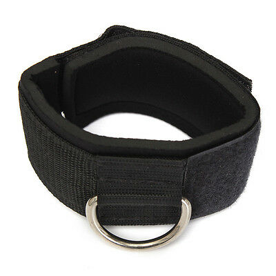 Ankle Strap D-ring Multi Gym Cable Attachment Thigh Leg Pulley Weight Lifting YM